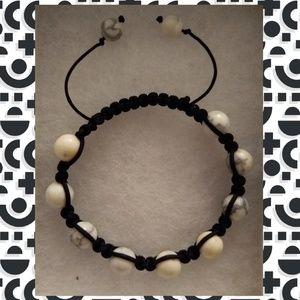 Off white/grey marbled men's bracelet